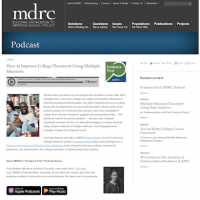 Podcast How to Improve College Placement Using Multiple Measures